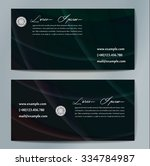 stylish business cards with... | Shutterstock .eps vector #334784987