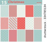 set of christmas patterns and... | Shutterstock .eps vector #334785134