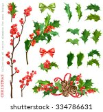 christmas collection of... | Shutterstock .eps vector #334786631