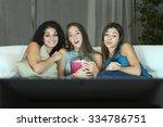 three friends watching romantic ... | Shutterstock . vector #334786751
