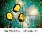 group of symbols of astrology... | Shutterstock . vector #334786847