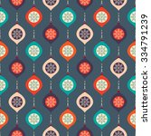 christmas seamless pattern with ... | Shutterstock .eps vector #334791239