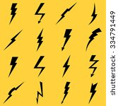 lightning black vector icons... | Shutterstock .eps vector #334791449