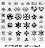 39 celtic style knots... | Shutterstock .eps vector #334792625