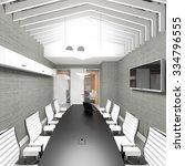 empty modern office interior... | Shutterstock . vector #334796555