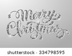luxury christmas greeting card... | Shutterstock .eps vector #334798595