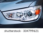 closeup headlights of car. | Shutterstock . vector #334799621