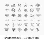 set of geometric shapes. trendy ... | Shutterstock .eps vector #334804481