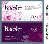 vector gift voucher template... | Shutterstock .eps vector #334808057