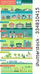big set with architectural and... | Shutterstock .eps vector #334810415