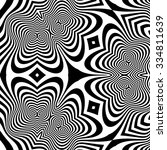 pattern with optical illusion.... | Shutterstock .eps vector #334811639