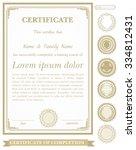 gold vertical certificate... | Shutterstock .eps vector #334812431