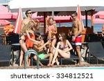 young people having fun near... | Shutterstock . vector #334812521