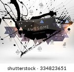 geometric polygonal elements.... | Shutterstock .eps vector #334823651