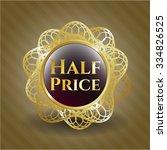 half price shiny badge   Shutterstock .eps vector #334826525