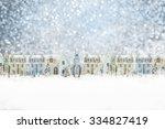 christmas town  | Shutterstock . vector #334827419