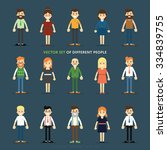 cartoon vector people... | Shutterstock .eps vector #334839755