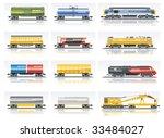 vector railroad transportation... | Shutterstock .eps vector #33484027