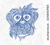 decorative ornamental face of... | Shutterstock .eps vector #334840985