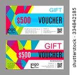 voucher set  gift voucher... | Shutterstock .eps vector #334842185