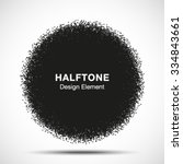 abstract halftone dots circle.... | Shutterstock .eps vector #334843661