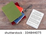 ebook and books  top view ... | Shutterstock . vector #334844075