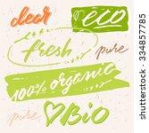 organic  bio  eco  fresh  pure...   Shutterstock .eps vector #334857785