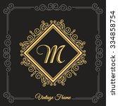 flourishes calligraphic... | Shutterstock .eps vector #334858754