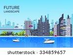 website hero image in flat... | Shutterstock .eps vector #334859657