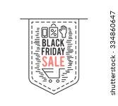 black friday sale concept...   Shutterstock .eps vector #334860647