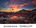 sunrise over makapu'u point and ... | Shutterstock . vector #334861229