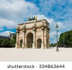 arc de triomphe du carrousel in ... | Shutterstock . vector #334863644