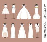 different styles of wedding... | Shutterstock .eps vector #334866149