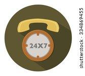 service 24 icon | Shutterstock .eps vector #334869455