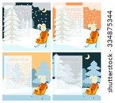 vector image of the winter... | Shutterstock .eps vector #334875344