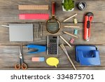 bright stationery objects on... | Shutterstock . vector #334875701
