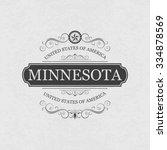 minnesota  usa state.vintage...   Shutterstock .eps vector #334878569