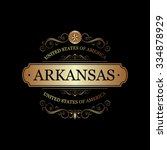 arkansas usa state.vintage... | Shutterstock .eps vector #334878929