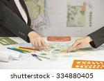 landscape architect  meeting... | Shutterstock . vector #334880405
