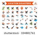 aviation disasters vector icon... | Shutterstock .eps vector #334881761