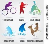 set of abstract sport logos. | Shutterstock .eps vector #334882589