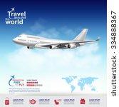 airline vector concept travel...   Shutterstock .eps vector #334888367