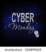 cyber monday mouse lighting... | Shutterstock .eps vector #334899605
