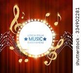 elegant gold music circle... | Shutterstock .eps vector #334902281