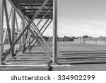 x steel frame outdoor object.... | Shutterstock . vector #334902299