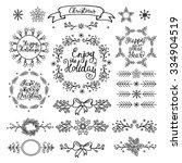 christmas handdrawn design... | Shutterstock .eps vector #334904519