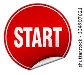 start round red sticker... | Shutterstock .eps vector #334907621