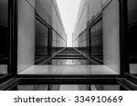 urban geometry  looking up to... | Shutterstock . vector #334910669