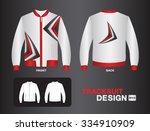 white tracksuit design vector... | Shutterstock .eps vector #334910909