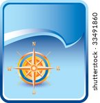 compass on blue rip curl... | Shutterstock .eps vector #33491860